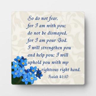 Isaiah 41:10 plaque