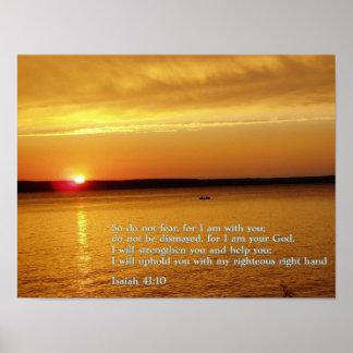 Isaiah 41:10 Sunset Print