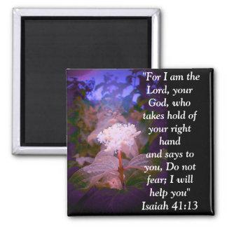 Isaiah 41:13 square magnet