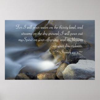 Isaiah 44:3 Poster