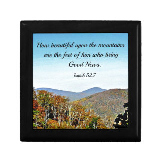 Isaiah 52:7 How beautiful upon the mountains.... Gift Box