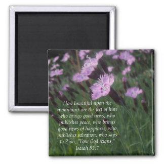 Isaiah 52:7 square magnet