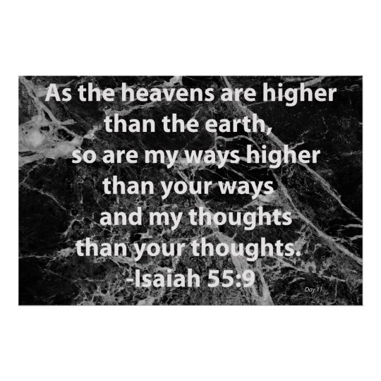 Isaiah 55:9 poster