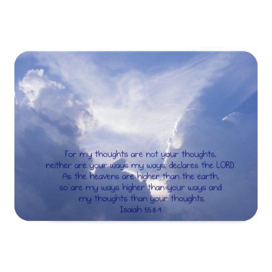 Isaiah 55 Bible Scripture Thanks Chrisian Custom Card