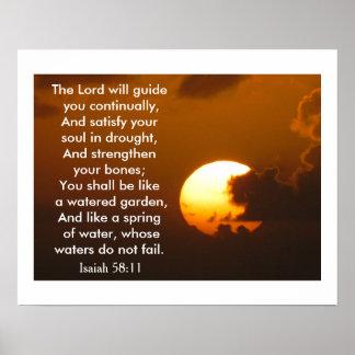 Isaiah 58:11 - art poster