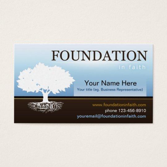 Isaiah 58 Foundation Faith Business Card Template