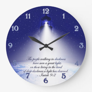 Isaiah 9:2 Christmas Round Wall Clock
