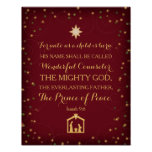 Isaiah 9:6 For Unto Us A Child Is Born (11x14)