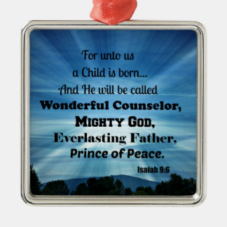 Isaiah 9:6 For unto us a Child is born. Christmas Ornament