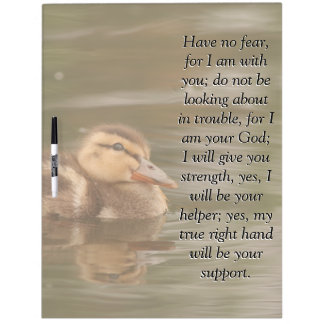 Isaiah Bible Scripture Baby Duckling Duck Board Dry-Erase Whiteboard
