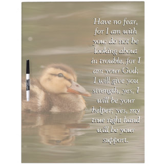 Isaiah Bible Scripture Baby Duckling Duck Board Dry Erase Whiteboards