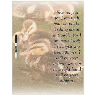 Isaiah Bible Scripture Baby Ducklings Ducks Board Dry Erase Whiteboard