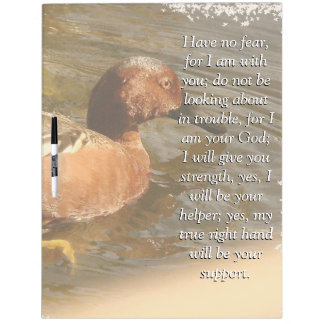 Isaiah Bible Scripture Cinnamon Teal Duck Bird Dry Erase White Board
