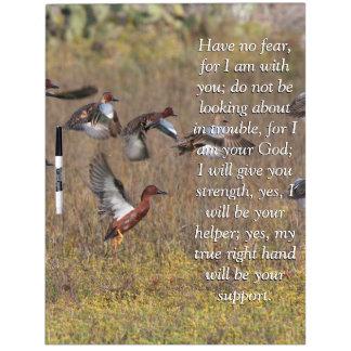Isaiah Bible Scripture Cinnamon Teal Duck Birds Dry-Erase Whiteboard