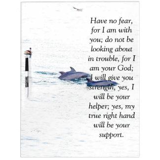 Isaiah Bible Scripture Dolphins Pelican Board Dry Erase Board