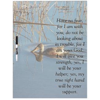 Isaiah Bible Scripture Duck Bird Board Dry-Erase Board