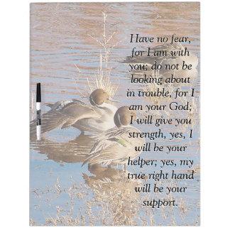Isaiah Bible Scripture Pintail Ducks Board Dry Erase Whiteboards