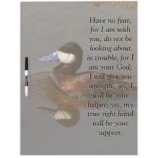Isaiah Bible Scripture Ruddy Duck Bird Board Dry-Erase Whiteboards