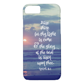 Isaiah Bible Verse with Sunrise iPhone 7 Case