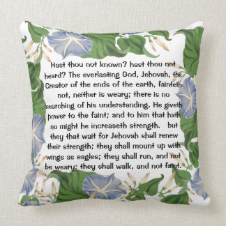 Isaiah Botanical Morning Glory Flowers Floral Throw Pillow