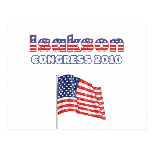 Isakson Patriotic American Flag 2010 Elections Postcard