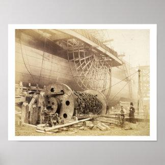 Isambard Kingdom Brunel (1806-59) beside the 'Grea Poster