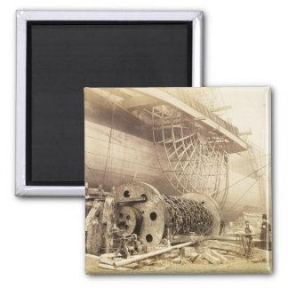 Isambard Kingdom Brunel (1806-59) beside the 'Grea Square Magnet