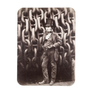 Isambard Kingdom Brunel, standing in front of the Rectangular Photo Magnet