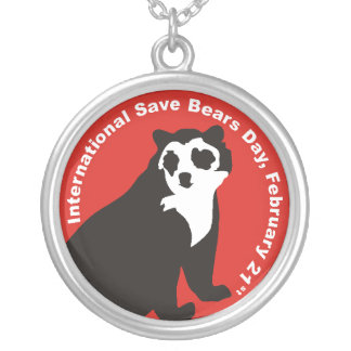 ISBD ANDAEN BEAR SILVER PLATED NECKLACE