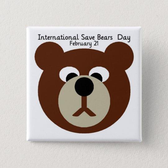 ISBD BROWN BEAR 15 CM SQUARE BADGE