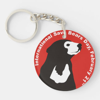 ISBD two sided key chain Sun Bear