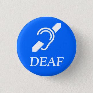 ISD Deaf 3 Cm Round Badge