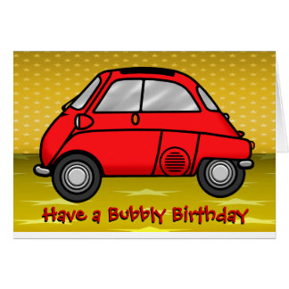 Isetta Birthday Card