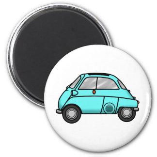 isetta light blue 6 cm round magnet