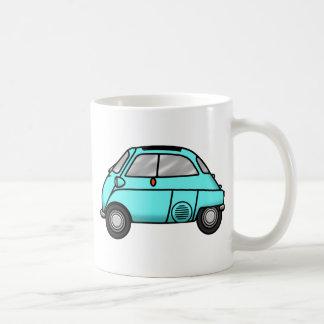 isetta light blue basic white mug