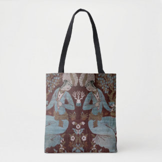 Isfahan style panel, Persian, 17th century (silk) Tote Bag