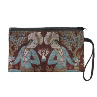 Isfahan style panel, Persian, 17th century (silk) Wristlet