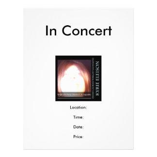 Ishah Laurah Guillen Wright: Kyrie Eleison Concert 21.5 Cm X 28 Cm Flyer