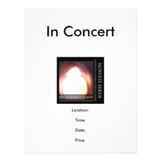 Ishah Laurah Guillen Wright: Kyrie Eleison Concert Full Color Flyer