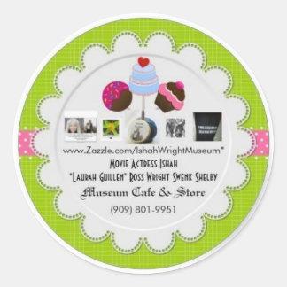 Ishah Wright Museum Logo Round Stickers