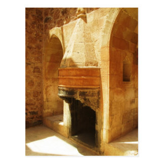 Ishak Pasha Palace fireplace Postcard