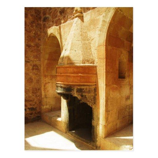 Ishak Pasha Palace fireplace Post Cards