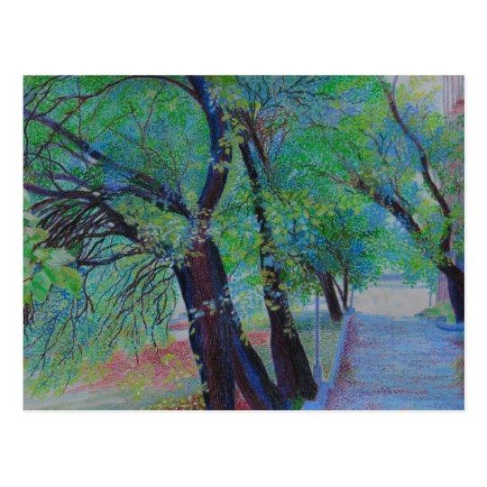 Isham Park Trees in Inwood NY Postcard