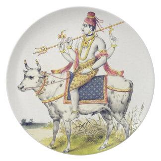 Ishana or Shiva, engraved by C. de Motte (1785-183 Plate