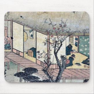 Ishibe by Ando, Hiroshige Ukiyoe Mouse Pad