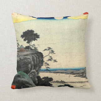 Ishiyama Autumn Moon 1857 Throw Pillow