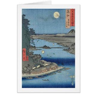 Ishiyama on Biwa Lake Omi Card