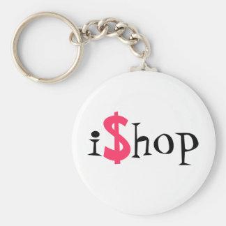 iShop Basic Round Button Key Ring