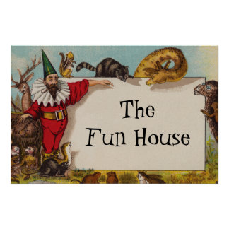 Isidore the Elf & his Animals Small Poster