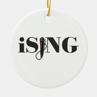 iSING Microphone Performer Christmas Ornament